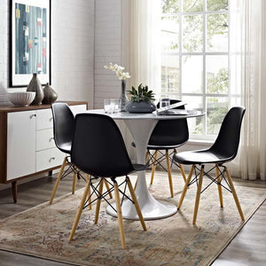 Pyramid Modern Dining Side Chair in Black