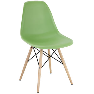 Pyramid Modern Dining Side Chair in Light Green