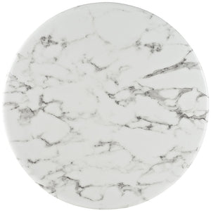 "Lippa 28"" Round Artificial Marble Top Bar Table"