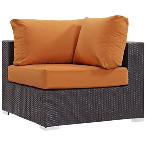 Convene Outdoor Patio Corner Lounge Chair - taylor ray decor