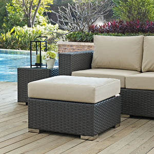 Sojourn Outdoor Patio Ottoman - taylor ray decor