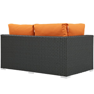 Sojourn Outdoor Patio Left Arm Loveseat - taylor ray decor