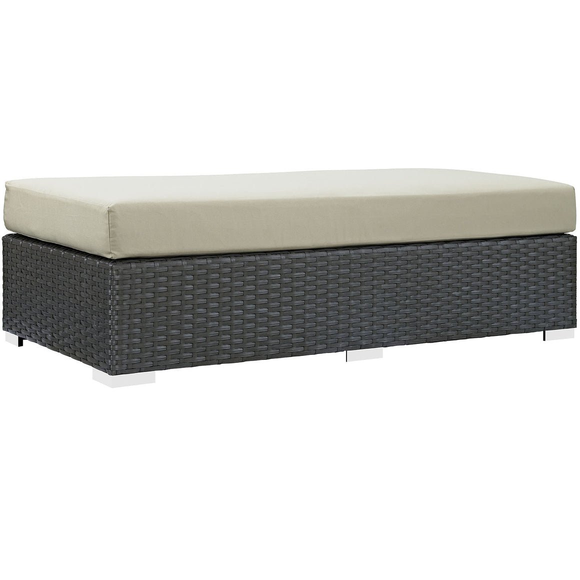Sojourn Outdoor Patio Fabric Rectangle Ottoman