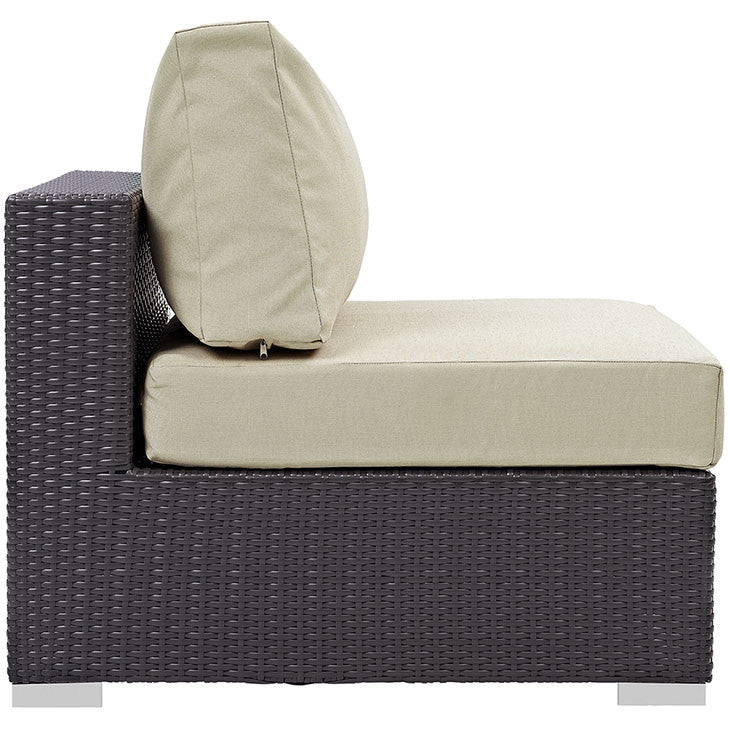 Convene Outdoor Patio Armless Lounge Chair - taylor ray decor