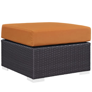 Convene Outdoor Patio Fabric Ottoman - taylor ray decor