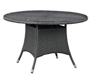 "Sojourn 47"" Round Outdoor Patio Dining Table - taylor ray decor"