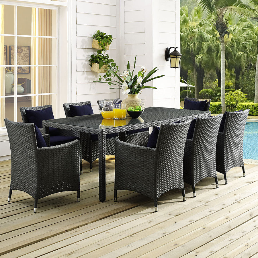 "Sojourn 82"" Outdoor Patio Dining Table - taylor ray decor"
