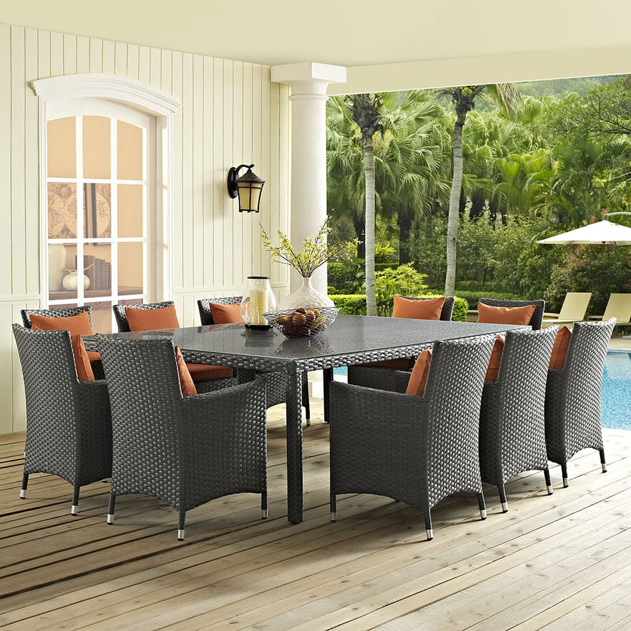 "Sojourn 90"" Outdoor Patio Dining Table - taylor ray decor"