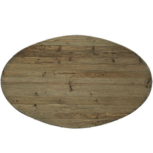 "Drive 78"" Oval Wood Top Dining Table - taylor ray decor"