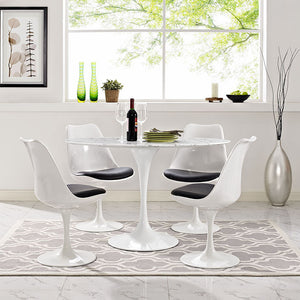 "Lippa 48"" Oval-Shaped Artificial Marble Dining Table - taylor ray decor"