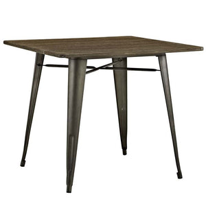 "Alacrity 36"" Bamboo Wood Top Dining Table"