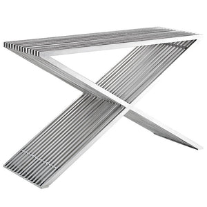 Press Stainless Steel Console Table