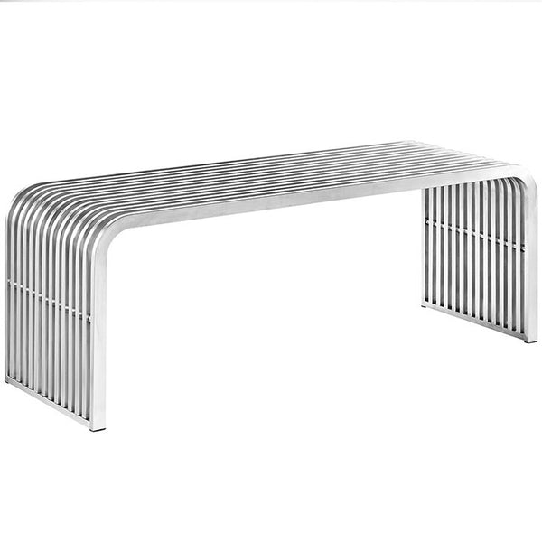 Pipe 4' Stainless Steel Bench