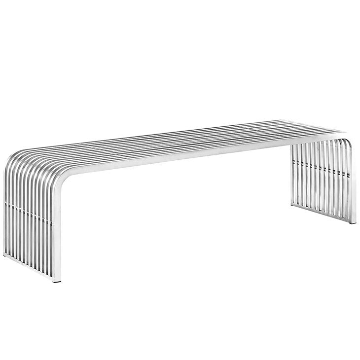 Pipe 5' Stainless Steel Bench
