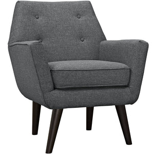 Posit Contemporary Armchair in Gray
