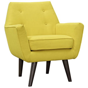 Posit Contemporary Armchair in Sunny