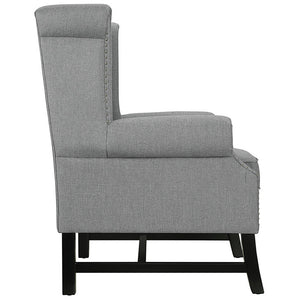 Steer Wingback Fabric Armchair - taylor ray decor