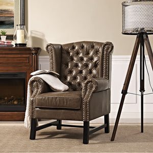 Steer Traditional Tufted Armchair - taylor ray decor