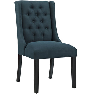 Baronet Fabric Dining Chair in Azure