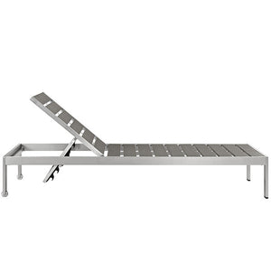 Shore Outdoor Patio Aluminum Chaise - taylor ray decor