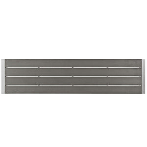 Shore Outdoor Patio Aluminum Bench - taylor ray decor