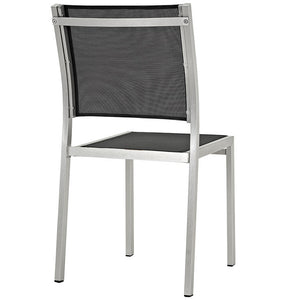 Shore Outdoor Patio Aluminum Side Chair - taylor ray decor