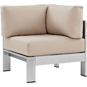 Shore Outdoor Patio Aluminum Corner Sofa - taylor ray decor