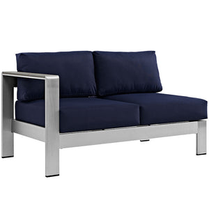 Shore Left-Arm Loveseat Outdoor Patio Aluminum Loveseat