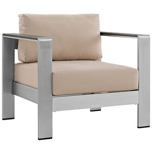 Shore Outdoor Patio Aluminum Armchair - taylor ray decor