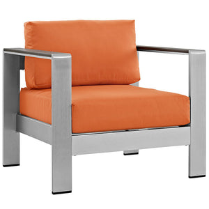 Shore Outdoor Patio Aluminum Armchair