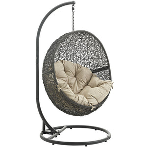 Hide Outdoor Patio Swing Chair With Stand - taylor ray decor