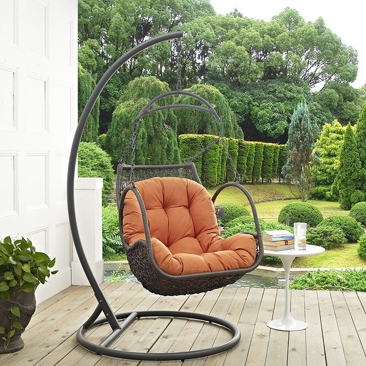 Arbor Outdoor Patio Wood Swing Chair - taylor ray decor