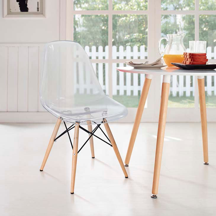 Pyramid Molded Dining Side Chair - taylor ray decor