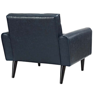 Delve Faux Leather Armchair