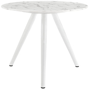 "Lippa 36"" Artificial Marble Dining Table with Tripod Base"