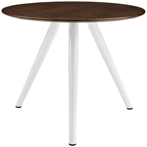 "Lippa 36"" Walnut Dining Table with Tripod Base"