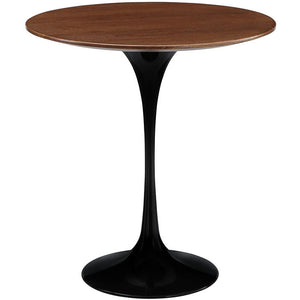 "Lippa 20"" Round Wood Top Side Table (Black)"