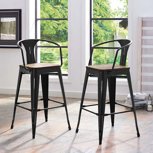 Promenade Bar Stool with Bamboo Seat - taylor ray decor