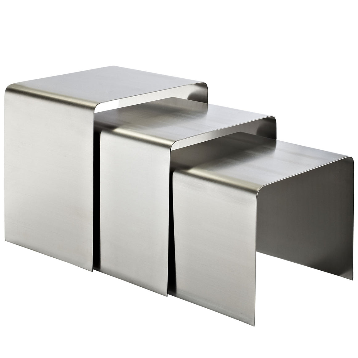Rush Stainless Steel Nesting Tables