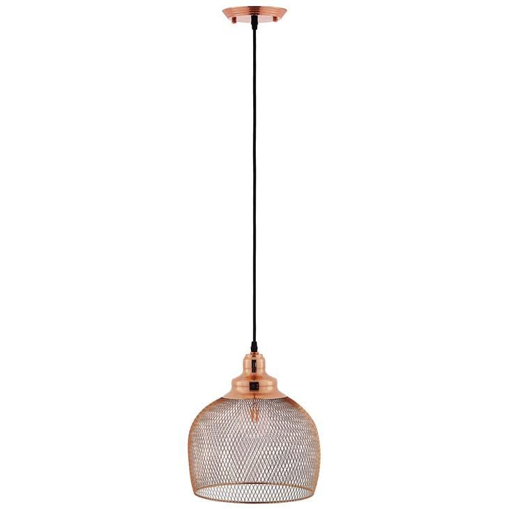 Glimmer Half-Sphere Rose Gold Pendant Light - taylor ray decor