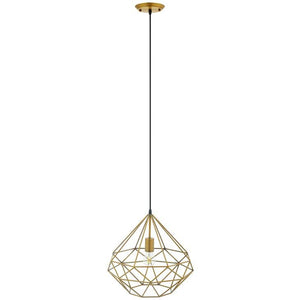 RARITY DIAMOND-SHAPED BRASS PENDANT LIGHT