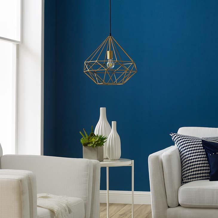 Rarity Diamond-Shaped Brass Pendant Light - taylor ray decor