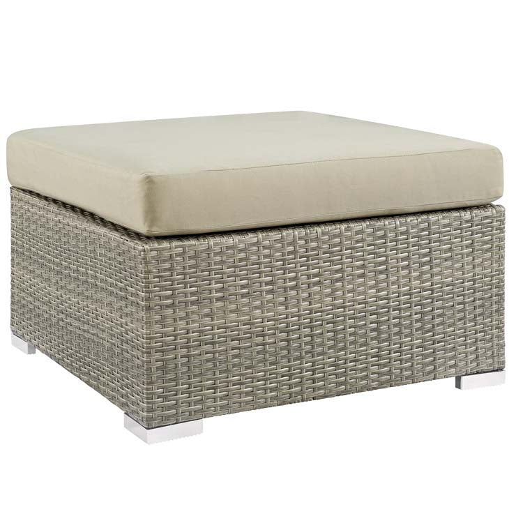 REPOSE SUNBRELLA® FABRIC OUTDOOR PATIO OTTOMAN