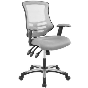 Calibrate Modern Mesh Office Chair in Gray