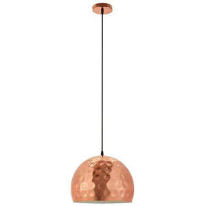"DIMPLE 13.5"" HALF-SPHERE ROSE GOLD PENDANT LIGHT"