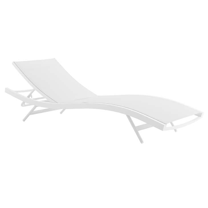 Glimpse Outdoor Patio Mesh Chaise Lounge Chair - taylor ray decor