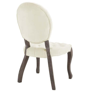 Exhibit French Vintage Tufted Velvet Side Chair - taylor ray decor