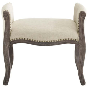 Avail French Vintage Upholstered Fabric Bench