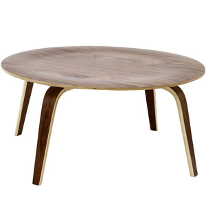 Classic Design Plywood Coffee Table in Walnut
