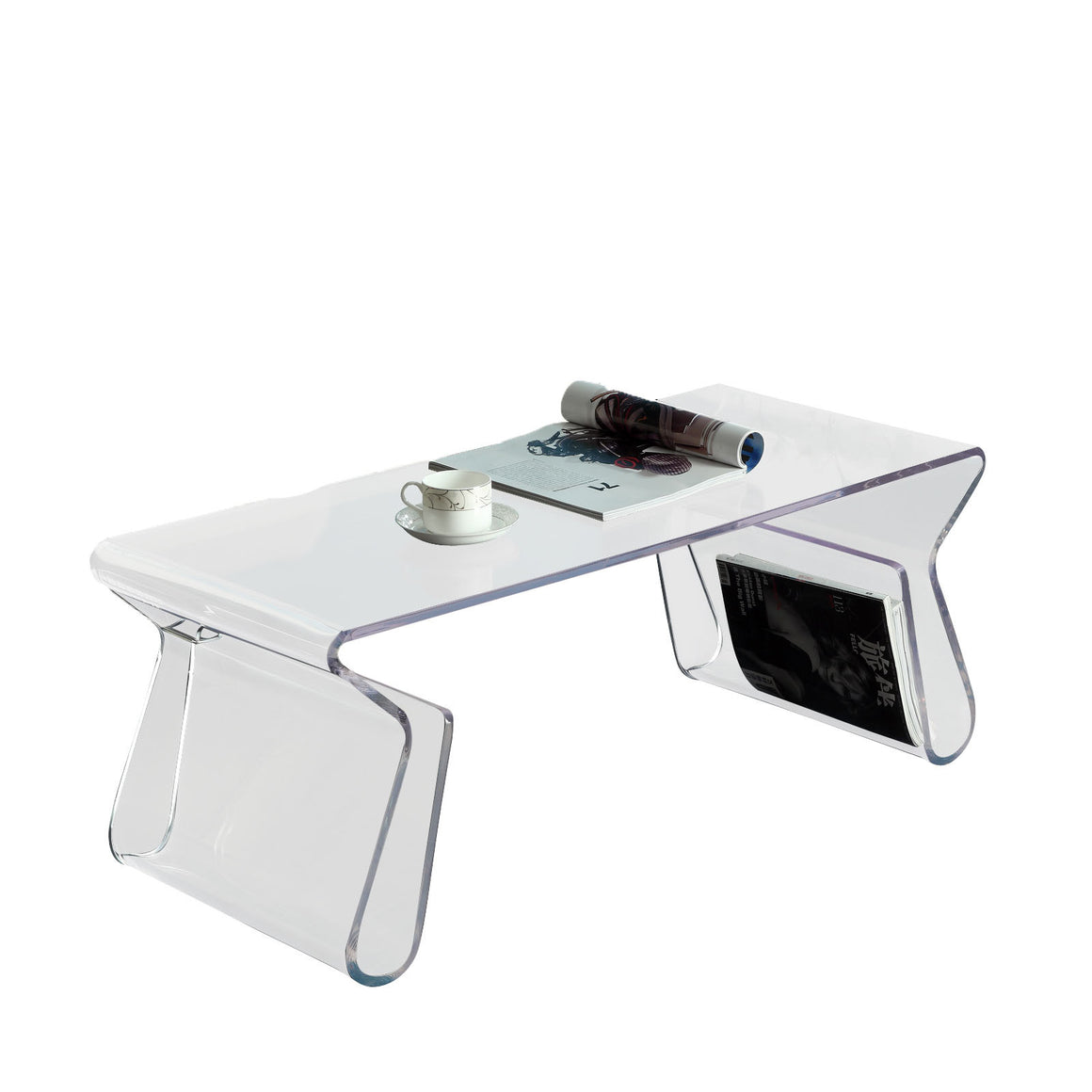 Magazine Acrylic Coffee Table